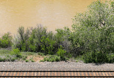 Rails at the River Royalty Free Stock Photography