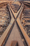Rails and sleepers Stock Photo