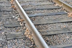 Rails, sleepers, gravel royalty free stock photography