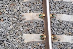 Rails, sleepers. Royalty Free Stock Images
