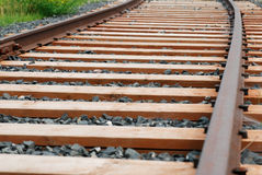 Rails and sleepers Royalty Free Stock Image