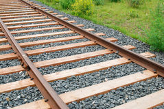 Rails and sleepers Royalty Free Stock Images