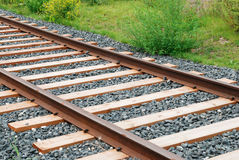Rails and sleepers Royalty Free Stock Photos