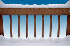 rails snöig royaltyfri foto