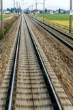 Rails with soft Royalty Free Stock Photo
