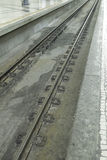 Rails in station Stock Images