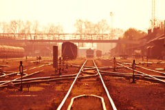 Rails in summer. Rails on a hot summer day Royalty Free Stock Image