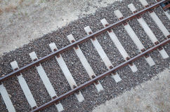 Rails From the Top Royalty Free Stock Image