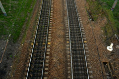 Rails from the top Royalty Free Stock Photo