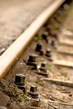 Rails, track body Stock Photography