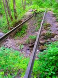 Rails on the Trail Stock Image