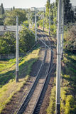 Rails for trains Stock Image