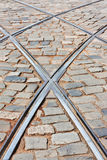 Rails of tramway Royalty Free Stock Photo