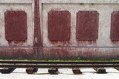 Rails and wall Stock Photography