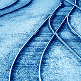 Rails in winter Stock Photos