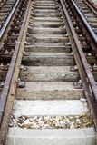 Rails on wooden or concrete sleepers Stock Photography