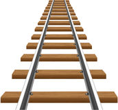 Rails with wooden sleepers vector illustration Royalty Free Stock Images