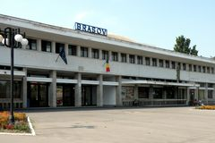 Railstation在布拉索夫(Kronstadt), Transilvania,罗马尼亚 库存照片