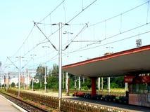 Railstation在布拉索夫(Kronstadt), Transilvania,罗马尼亚 库存图片