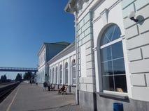 Railstation Στοκ φωτογραφία με δικαίωμα ελεύθερης χρήσης