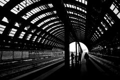 Railstation Royalty Free Stock Images