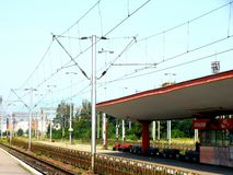 Railstation in Brasov (Kronstadt), Transilvania, Romania Stock Images