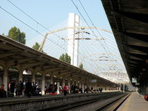 Railstation in Bucharest Royalty Free Stock Photos
