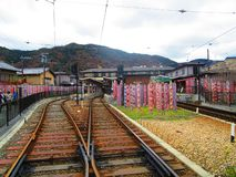 Railstation stockfotos
