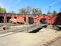 Railtown roundhouse turntable royalty free stock photos