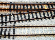 RailTrack Junction. Three RailTrack Junction stock photo