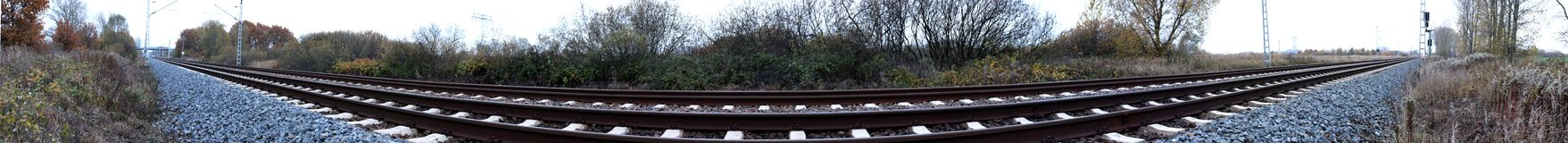 Railtrack Panorama Royalty Free Stock Image