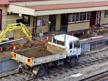 railtracklastbil Royaltyfri Fotografi