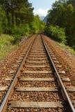Railway в горах стоковое изображение