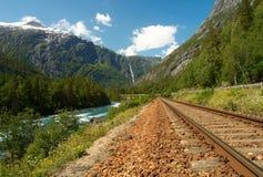 Railway в горах стоковые изображения