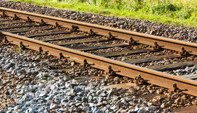 Railway в солнце после полудня Стоковые Изображения
