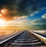 railway горизонта к стоковое фото