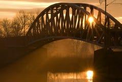 railway моста Стоковое Изображение