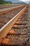 railway прямо Стоковое фото RF