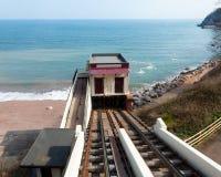 Railway скалы Babbacombe стоковое фото rf