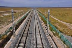 railway Тибет qinghai Стоковые Фотографии RF