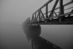 railway тумана моста стоковая фотография rf