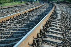 Railway. Going to horizon. Can be used as abstract impression of moving forward, future etc Royalty Free Stock Photos