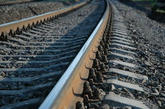 Railway. Going to horizon. Can be used as impression of moving forward, future etc Stock Photography