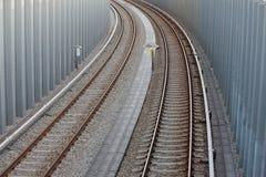 railway рельса Стоковые Фотографии RF