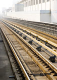 Railway. This is a photo of railway,grey red iron,taken in China Royalty Free Stock Photos