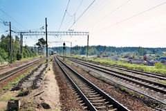 Railway. The network of railway lines Royalty Free Stock Image
