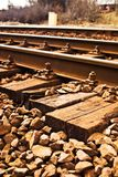 Railway. View of the railway track on a sunny day Royalty Free Stock Photos