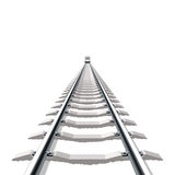 Railway. Detailed vector illustration of a railway Royalty Free Stock Photography