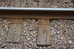 Railway. Rail road track stock image