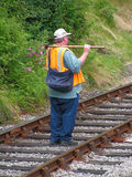 Railway. Worker Stock Photos